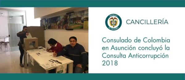 Consulado de Colombia en Asunción concluyó la Consulta Anticorrupción 2018