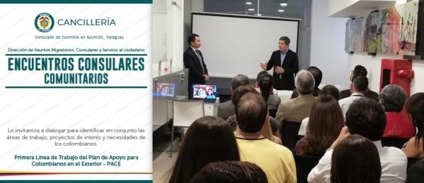 En noviembre se realizó el primer Encuentro Consular Comunitario en la sede del Consulado de Colombia en Asunción