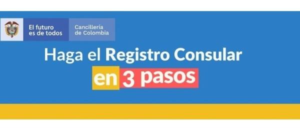¡Haga el registro consular en solo tres pasos!